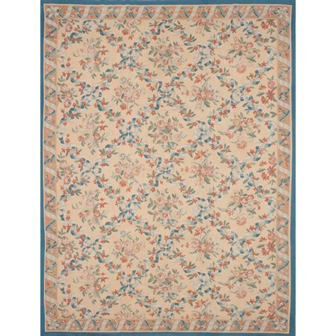 11 X 14 Area Rugs Ecarpet Gallery Tapestry Ivory Wool Sumak 11 Ft X 14 Ft Area Rug 208694 The Home Depot