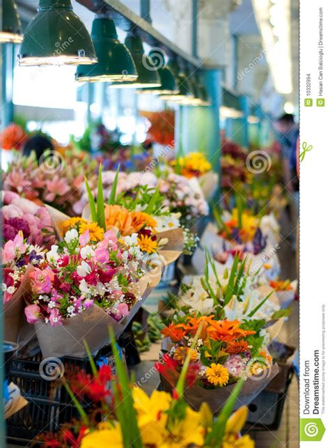 Flowers For Sale by Flowers For Sale At Pike Place Market Seattle Stock Photo