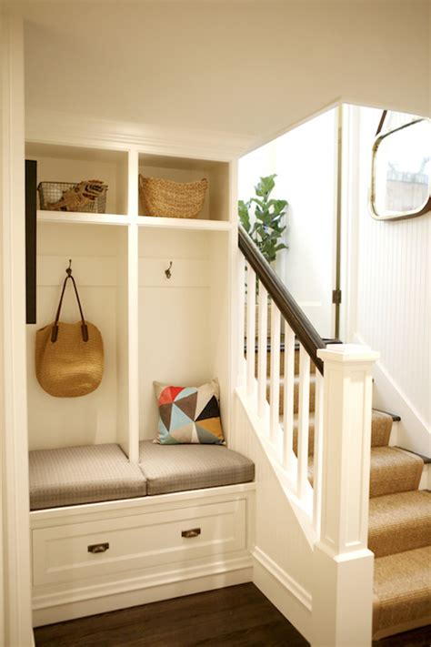 Garage Mudroom Designs mudroom lockers beadboard trim design ideas
