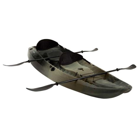 camo blow up boat lifetime camo sport fisher tandem kayak with paddles and