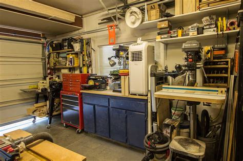 Setting Up A Woodworking Shop In A Garage by Anthony S Garage Woodshop The Wood Whisperer
