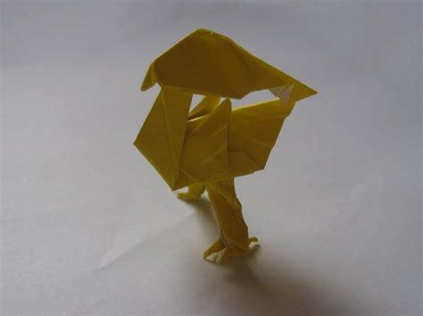 Chocobo Origami - yellow bird satoshi kamiya happy folding