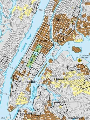 map of new area maps new york ethnic residential areas diercke