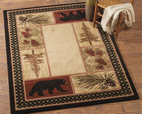 lodge rugs clearance cabin decor and cabin bedding black forest d 233 cor