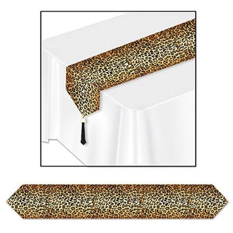 Leopard Table Runner by Printed Leopard Print Table Runner