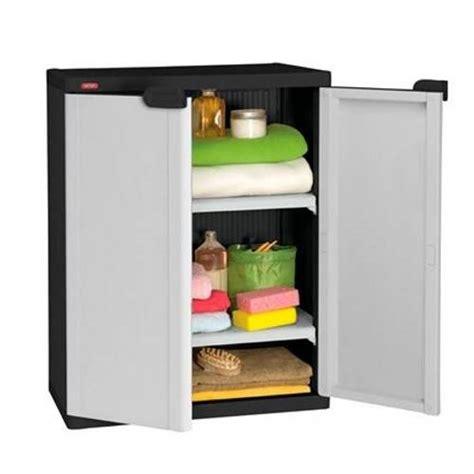 Keter Plastic Twin Shelf Garage Storage Cabinet   Buy