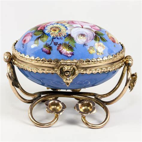 enamel jewelry antique kiln fired enamel jewelry casket box