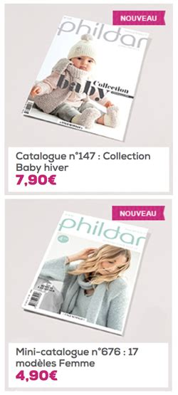 catalogues phildar et mod 232 les de tricots pour tous vos