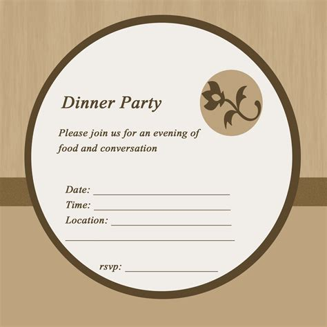 dinner invite template invitations free dinner invitation simple