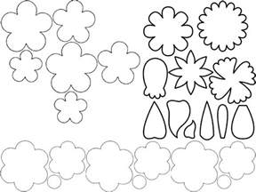 flower cut out template free coloring pages of folding flower templates