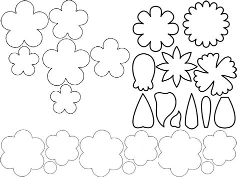 cut out template free coloring pages of folding flower templates