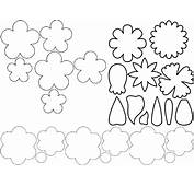 Free Coloring Pages Of Folding Flower Templates