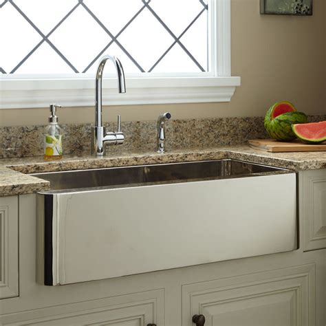 nickel plated copper sink 33 quot keely nickel plated copper farmhouse sink