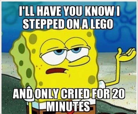 Funniest Spongebob Memes - spongebob squarepants meme stepped on a lego on bingememe