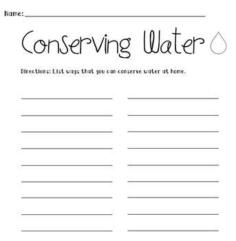 Save Water Worksheets For Kindergarten by Conserving Water Worksheet Activities Student And It Is