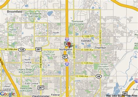 where is thornton colorado on a map map of sleep inn thornton denver