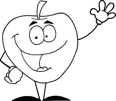free coloring page clipart colouring images of apple clipart best