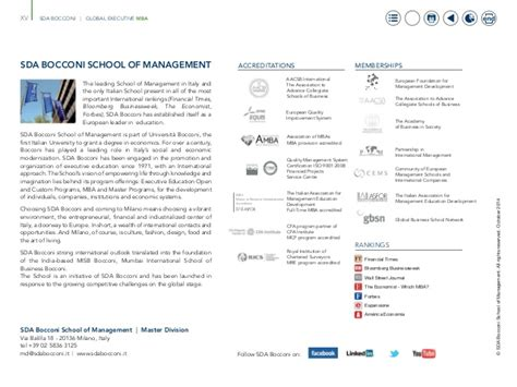 Mba Université Laval Distance by Global Executive Mba Sdabocconi