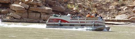grand canyon pontoon boat tours over the edge helicopter boat grandcanyon