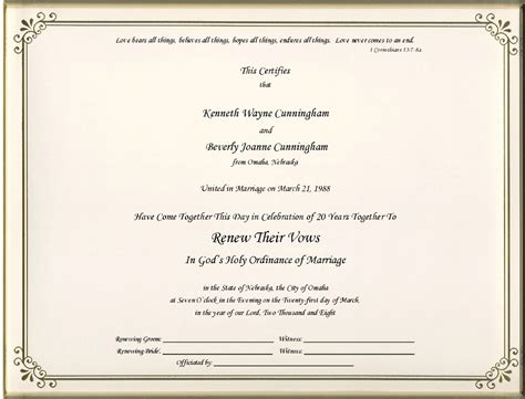 vow renewal certificates printable pictures to pin on