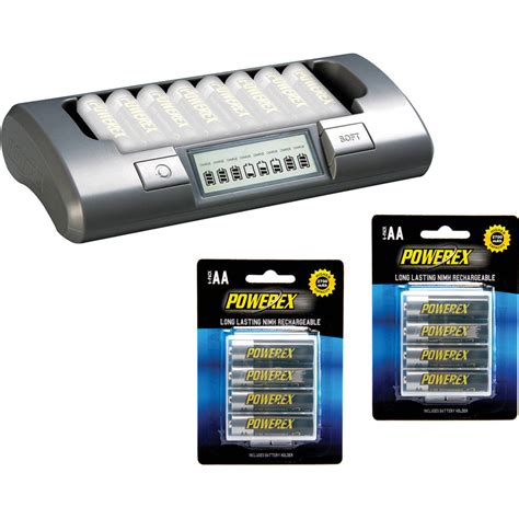 Charger Powerex Mh C800s Eight Cell Smart Charger powerex mh c800s 8 cell smart charger with 8 aa batteries kit