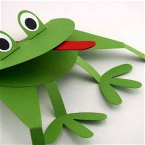 How To Make A Paper Frog Tongue - frog puppet craft tip junkie