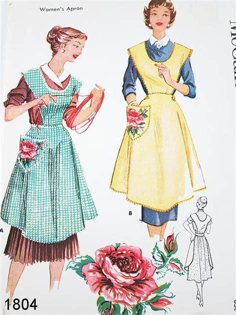 vintage mccalls pattern vintage apron pattern mccalls 1804 vtg 1950 s