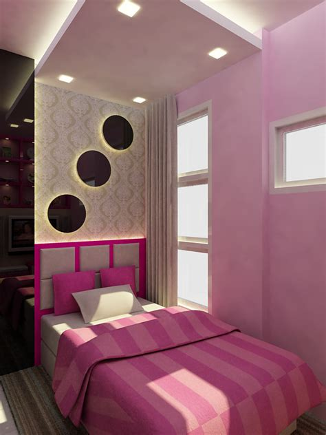 Bedroom Color Combinations Pink Small Bedroom With A Minimalist Color Combination Of Pink