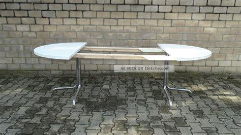 Thonet Tisch Ausziehbar by Thonet Tisch Holztisch Chrom 70er Konferenztisch Esstisch