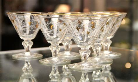 vintage martini glasses found in ithaca 187 six vintage royal fern martini glasses