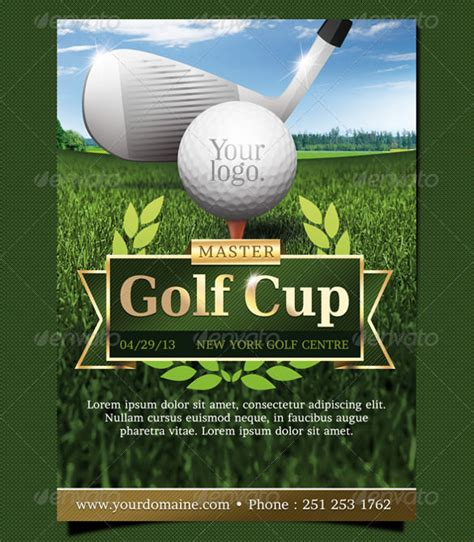 golf flyer template stackerx info