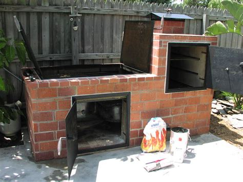 how to build a backyard grill build brick bbq smoker
