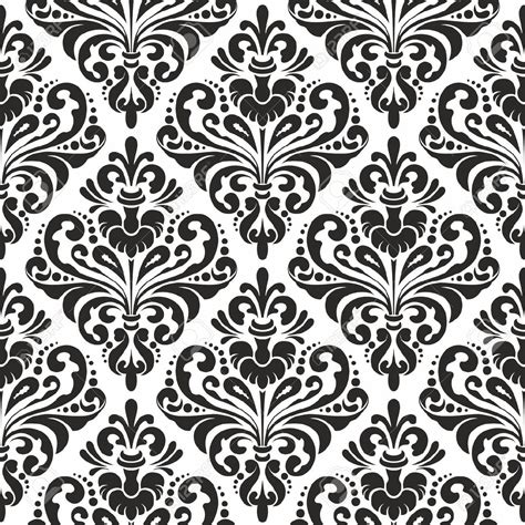vector pattern definition black and white seamless damask wallpaper pattern royalty