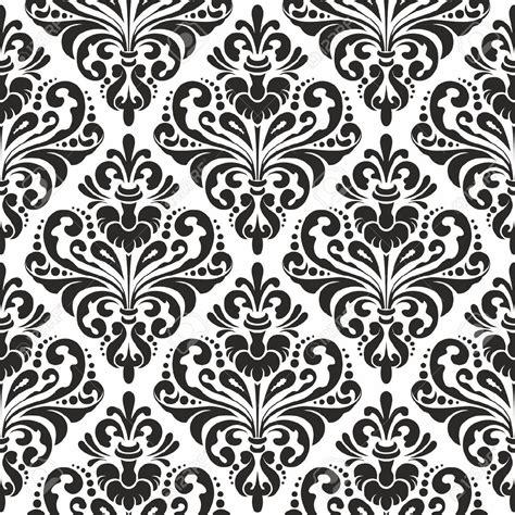 damask pattern background free black and white seamless damask wallpaper pattern royalty