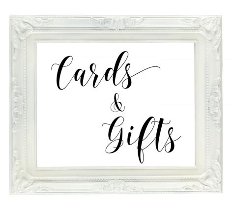 Card And Gift Table Sign - 91 printable cards and gifts sign cards and gifts sign wedding cards sign printable