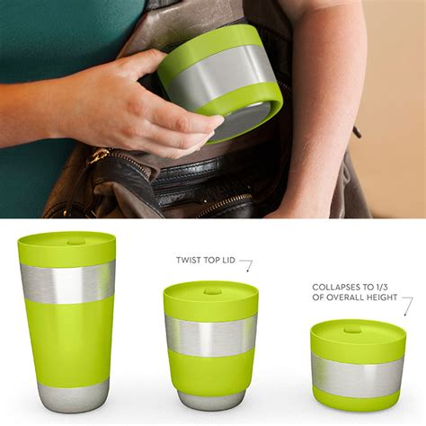 collapsible coffee mug compresso collapsible travel mug the green head