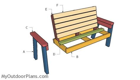 build a bench 2x4 garden bench plans myoutdoorplans free woodworking plans and projects diy