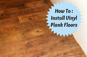 how to install vinyl plank floors home diy pinterest