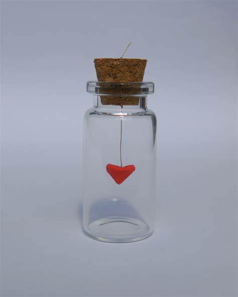 Mini Origami Hearts - 3d mini origami in a jar felt