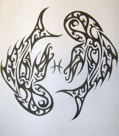 tribal couple tattoos tribal pisces ideas
