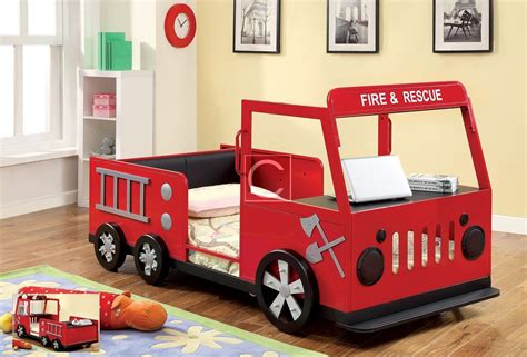 firetruck bedroom twin size fire truck design sturdy metal bed frame