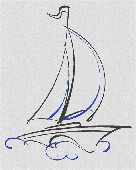 dessin bateau minimaliste how to draw a sailboat image search results sea glass
