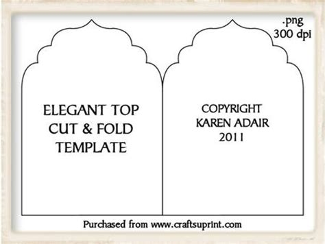 fold card template top cut and fold card template cup189236 168