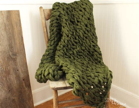 arm knit arm knit a blanket in 45 minutes simplymaggie