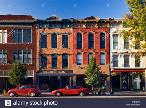 small american town business buildings on small american town in