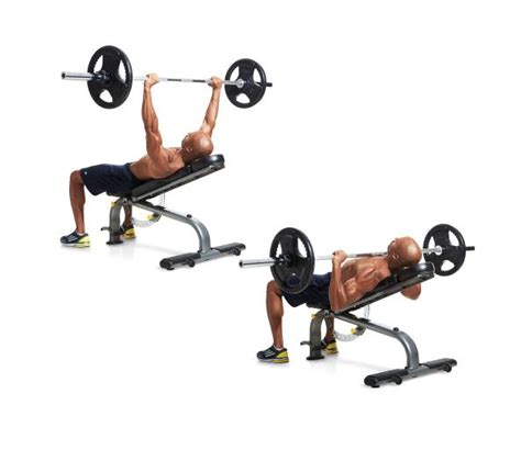 barbell bench press exercise chest workout 2 incline chest press fitness headquarters