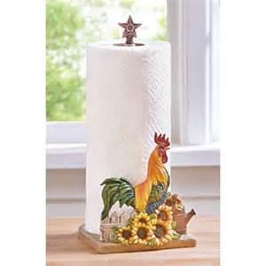 rooster paper towel holder uniques shop country rooster kitchen paper towel holder