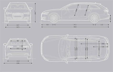 Audi A6 Size Dimensions by Audi A6 Avant Audi Uk