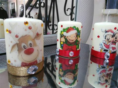 candele per natale candele personalizzate natalizie feste natale di