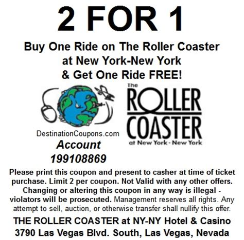 printable grocery coupons las vegas nyny rollercoaster coupon just vegas deals